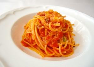 トマトソースのスパゲッティ